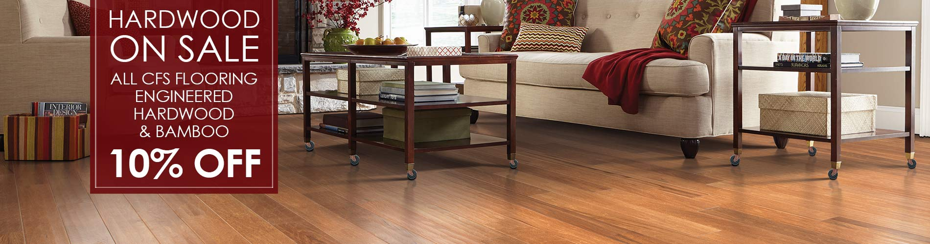 10% Off All CFS, Engineered, and Bamboo Hardwood. Get the floor you want at amazing prices, only at Nu-Way Carpet in Astoria, Oregon!